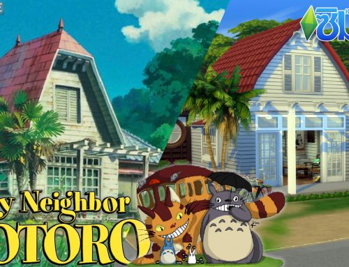 จำลองสร้างบ้านจากการ์ตูนเเอนิเมชั่น 'My Neighbor Totoro' บนเกม The Sims 4